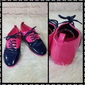 Gap kids size 12 tweed oxford happy pink shoes